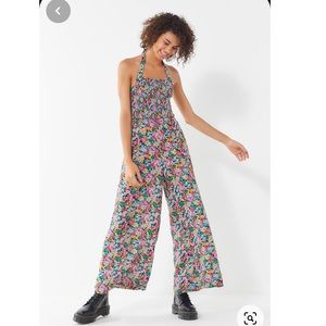 Urban Outfitters Floral Smocked Jumpsuit